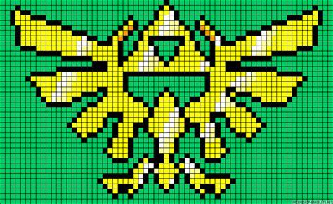 triforce legend  zelda perler bead pattern perler