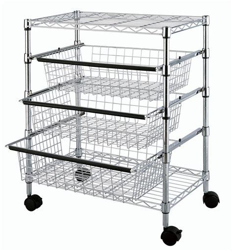 wire storage baskets for kitchen cabinets tp 2474 4 tier kitchen sliding wire drawers with storage
