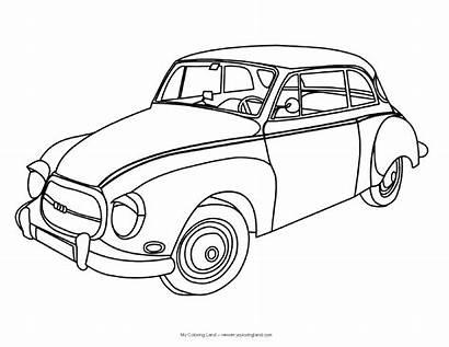 Coloring Cars Printable Sheets Classic Sheet Boys