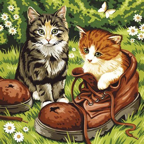 malen nach zahlen doppelset katzen hund sk spielwaren