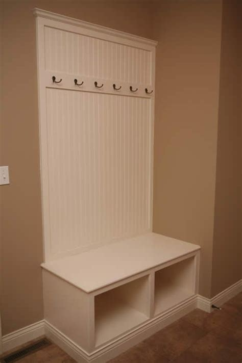 entryway storage bench  coat rack woodworking