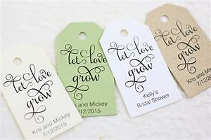 let love grow tag bridal shower personalized wedding favor With let love grow wedding favors