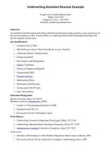sle resume insurance underwriter position underwriting assistant resume underwriting assistant