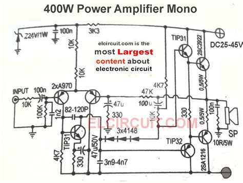 Audio Amplifier Circuit Diagram