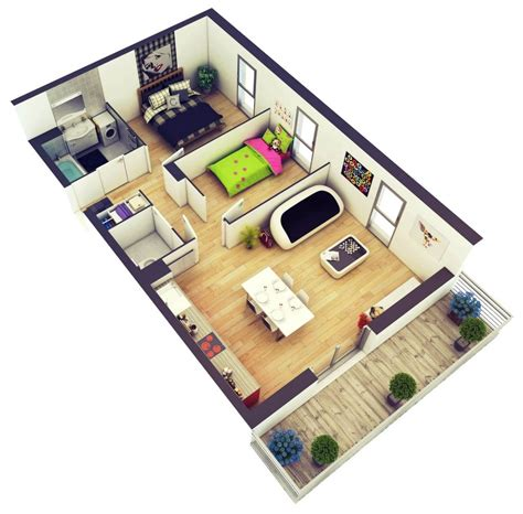 3 Bedroom Small House Design by 2 Bedroom House Plans Designs 3d Small House Home Design