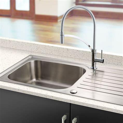 large stainless steel kitchen sinks bluci rubus 16 large bowl kitchen sink sinks taps 8904