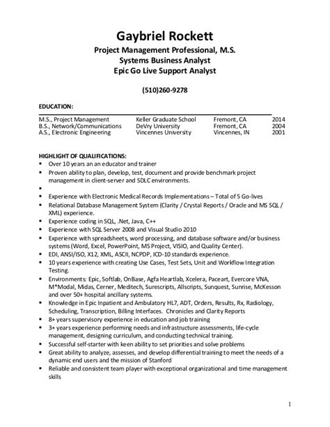 System Support Analyst Resume by Gaybriel Professional Resume