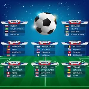Russia 2018 World Cup Calendar Vector
