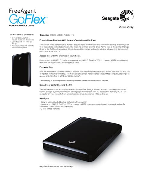 seagate freeagent goflex desk manual free pdf for seagate freeagent goflex 1tb storage