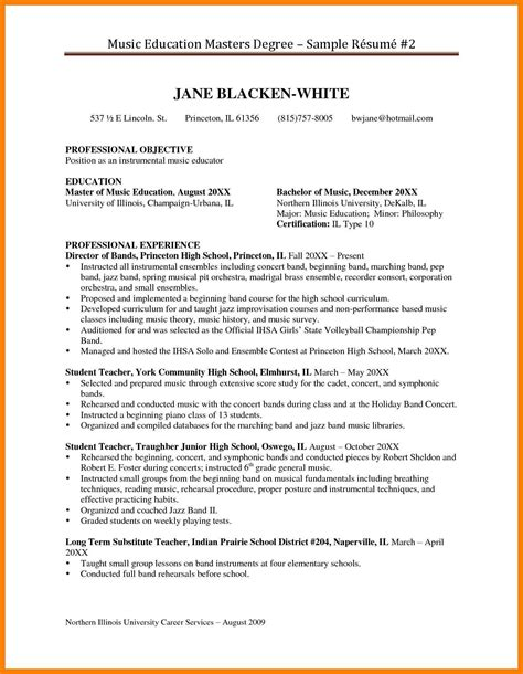 6 master s degree resume sle apply letter