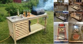 portable outdoor kitchen island diy idea make your own portable outdoor kitchen home design garden architecture magazine
