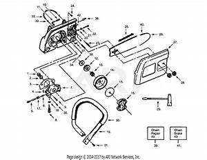 Poulan Pp335 Gas Saw  335 Gas Saw Parts Diagram For Handle