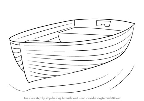 How To Draw A Water Boat by Learn How To Draw Boat At Dock Boats And Ships Step By