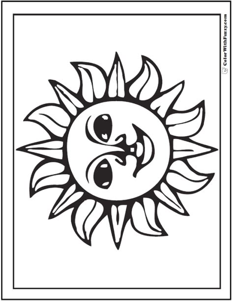 60 Star Coloring Pages Customize And Print Ad-free PDF | Star coloring pages, Sun coloring pages