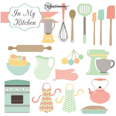 Clip Cucina by Kitchen Clipart Vectors Illustrations Creative Market