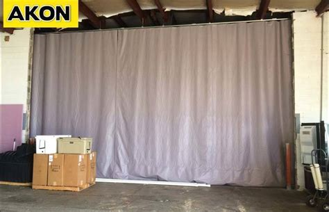 industrial warehouse partition wall akon curtain and
