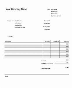 Work Invoice Template Word Small Business Invoice Template 8 Free Word Pdf Format