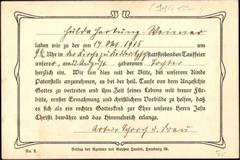 ansichtskarte postkarte einladung zur taufe
