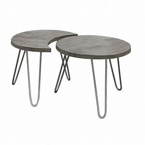 Table Pied Epingle : table basse modulable manguier gris pieds en pingle d60cm ~ Edinachiropracticcenter.com Idées de Décoration