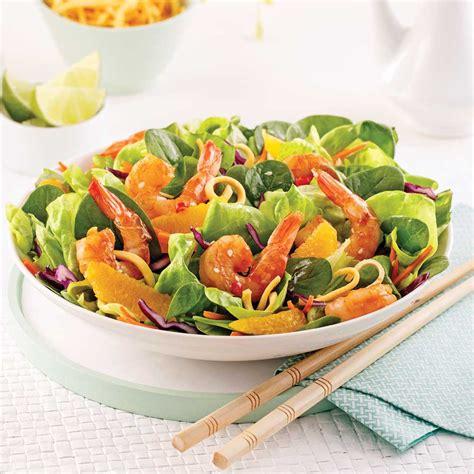 recettes de cuisine asiatique salade asiatique aux crevettes et nouilles frites