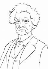 Coloring Malcolm Mark Twain Sheets Drawings Printable Famous Outline African Drawing History Crafts Sketch Langston Hughes Template Sketches Supercoloring Writer sketch template