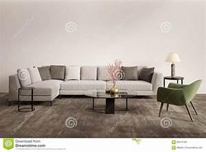 Salon Vert De Gris : salon gris contemporain avec le fauteuil vert image stock ~ Melissatoandfro.com Idées de Décoration