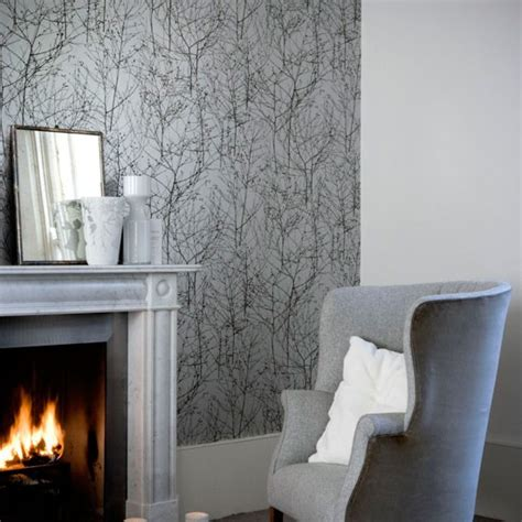 Graue Tapeten Wohnzimmer by Shades Of Grey Wallpaper Wallpaper Designs Housetohome