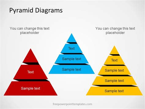 pyramid diagrams  powerpoint  multiple levels