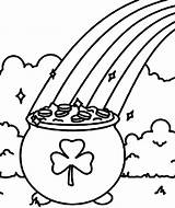 Pot Coloring Gold Rainbow Pages Shamrock Shamrocks Symbol Clipart Printable St Pancake Patricks Line Drawing Getdrawings Pooh Pages14 Getcolorings Cheshire sketch template