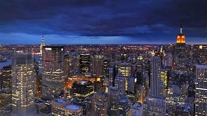 4k Night York Desktop Wallpapers Ultra Aerial