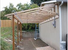 patio off of the garage pictures TRUSSES FROM THE BACK