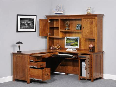 Desk With Hutch Plans by Corner Computer Desk With Hutch Plans Woodplans
