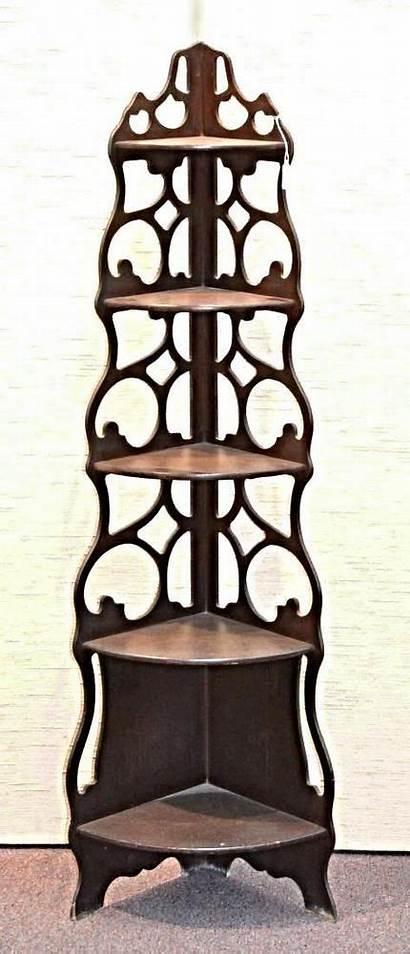 Corner Shelf Antique Stand Victorian Curio Etagere