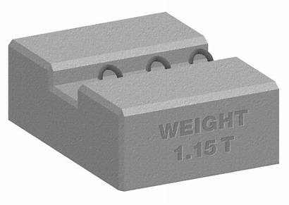 Blocks Kentledge Scaffold Block Ballast Concrete Counterweight