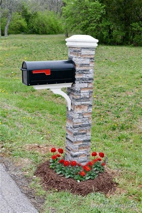 Mailbox Makeover {improving Curb Appeal}  Beneath My Heart