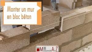 Mur En Béton : monter un mur en bloc b ton gedimat ma maison de a z youtube ~ Melissatoandfro.com Idées de Décoration