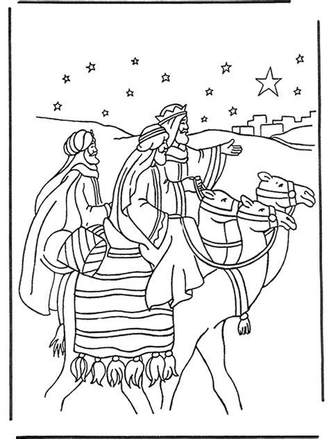 De Drie Wijzen Kleurplaat by De Drie Wijzen 1 Bijbelkleurplaten Kerst