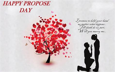 happy propose day love tree hearts quotes couples february