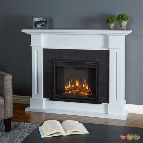 kipling electric heater led fireplace  white btu