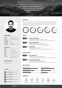 mono resume template by wwwikonome 3 page templates 90 With indesign resume