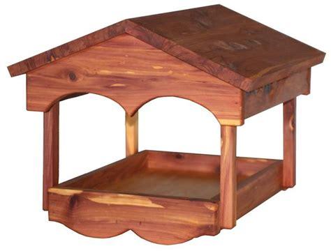 amish cedar classic open tray bird feeder amish