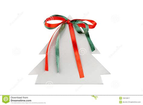 3d paper christmas tree with ribbon paper tree with ribbons royalty free stock photography image 16512817