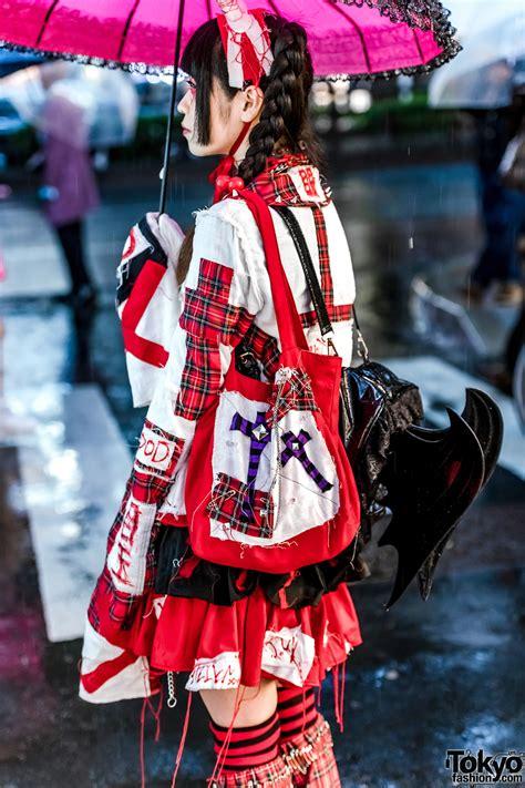 harajuku girl  punk gothic handmade fashion acdc rag