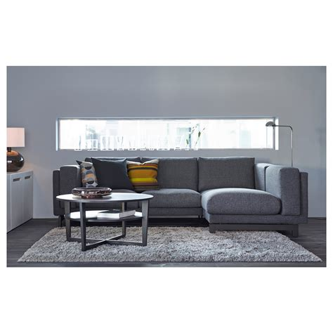nockeby 3 seat sofa with chaise longue right ten 246 dark