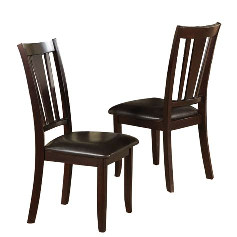 set   dining side chair faux leather seat cushion