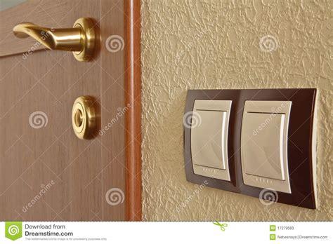 interior door and light switch stock photos image 17279583