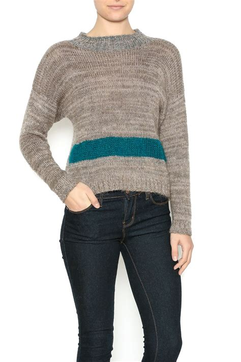 mohair sweater sweater mohair with stripe dc knits