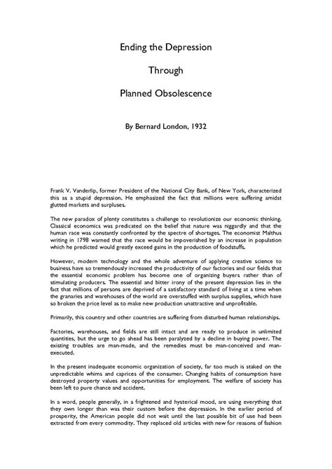bernard london wikipedia