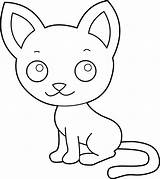 Coloring Cat Clipart Kitty Clip Line Pink Kitten Cartoon Cliparts Kittens Face Nose Pencil Library Clipartbest Happy Simple Lineart Sleeping sketch template