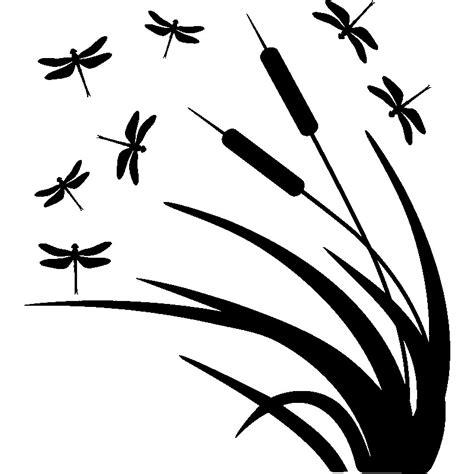 stickers pour cuisine sticker libellule et roseaux
